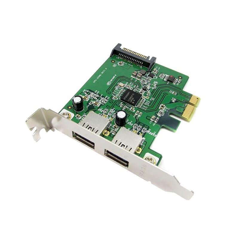 Adaptoare PCI Express Refurbished la 2 x USB 3.0
