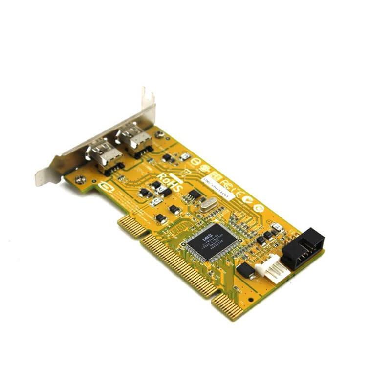 Adaptoare Refurbished PCI la 2 x FireWire IEEE 1394, HP 515182-001, Low Profile