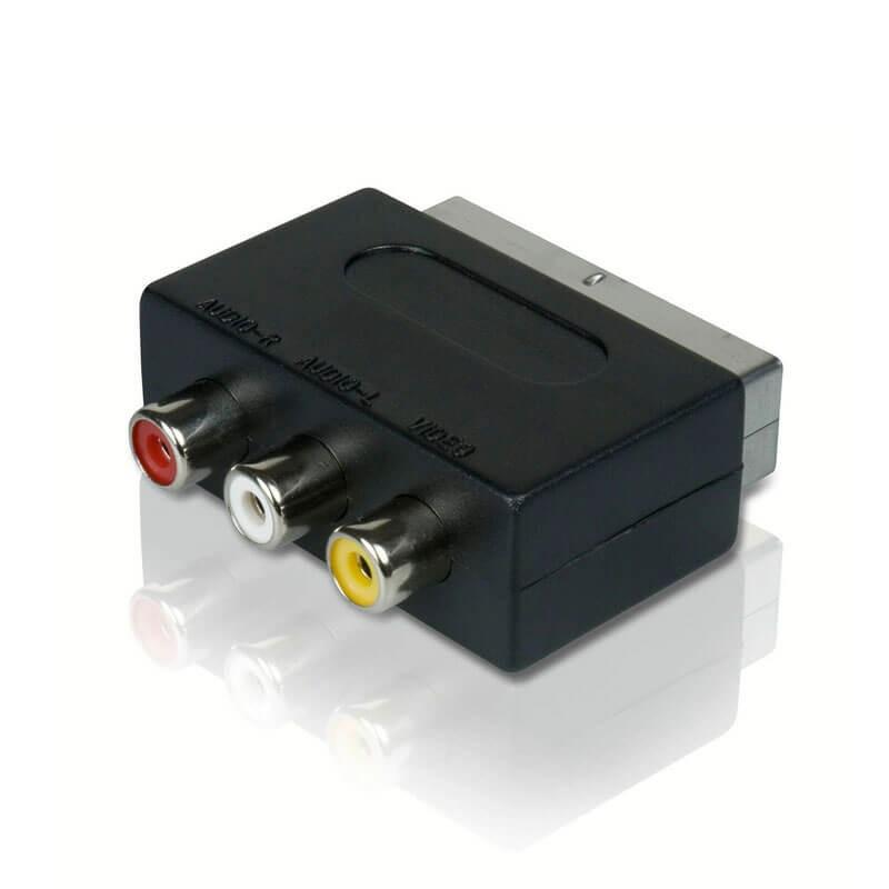 Adaptoare SCART la 3 RCA AV Audio Video