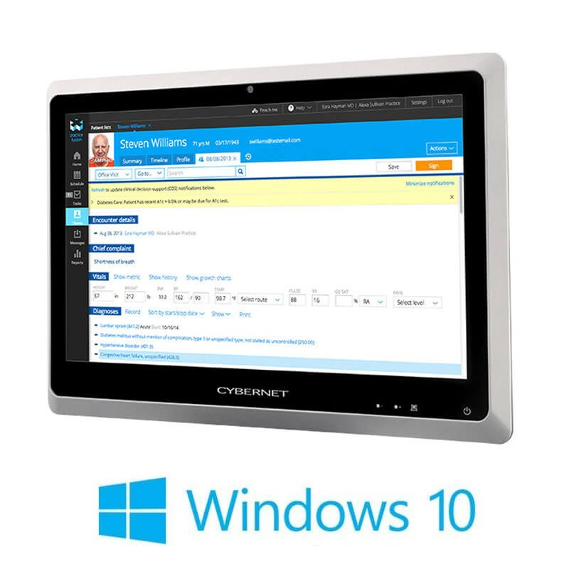 All-in-One Touchscreen Refurbished Cybernet H24x, i5-4570T, 24