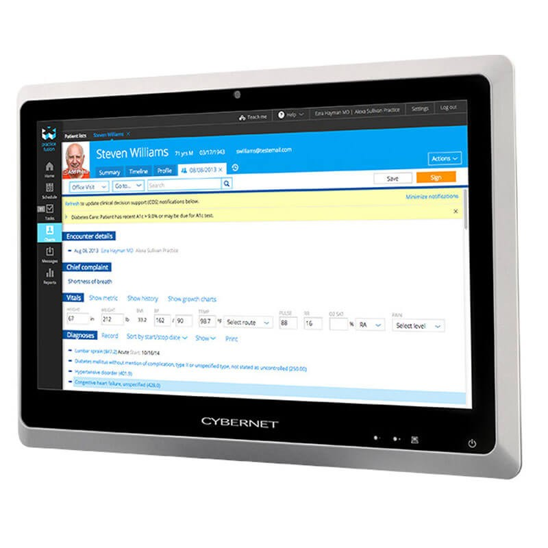 All-in-One Touchscreen second hand Cybernet H24x, Core i5-4570T, 24 inch Full HD, Wi-Fi
