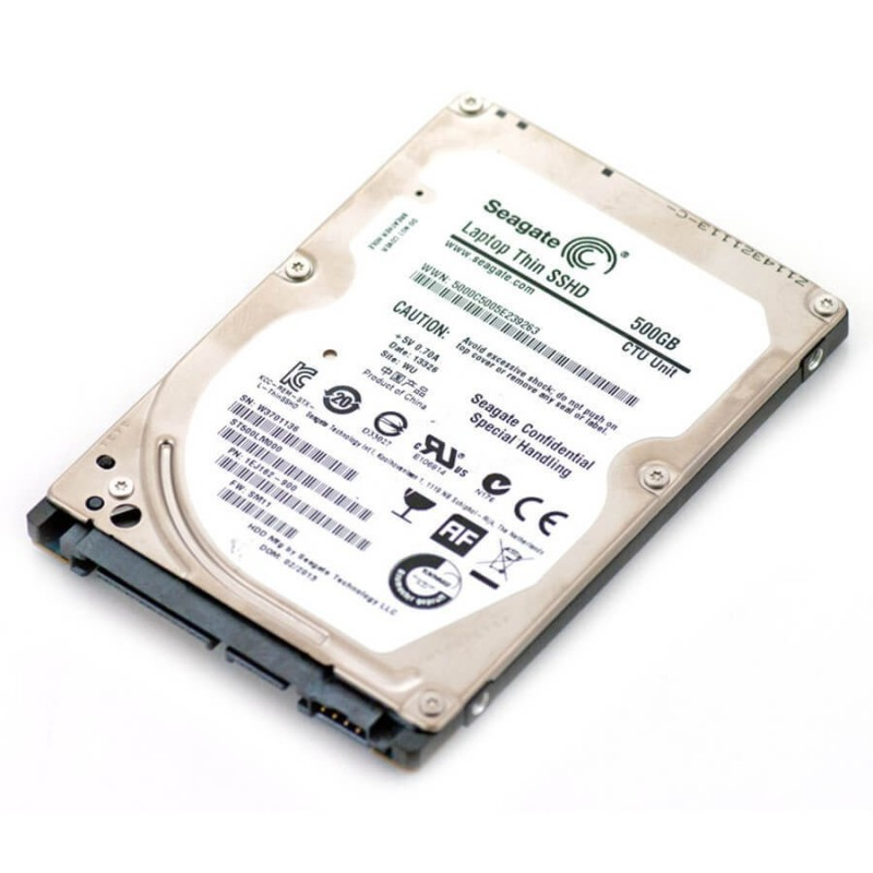HDD Laptopuri Refurbished SEAGATE Thin SSHD ST500LM000, 500GB