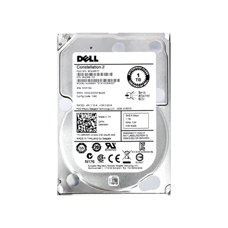 HDD Refurbished Dell 9W5WV 1TB SAS 6Gbps 2.5 inch, 7.2K RPM, 64 Mb Cache