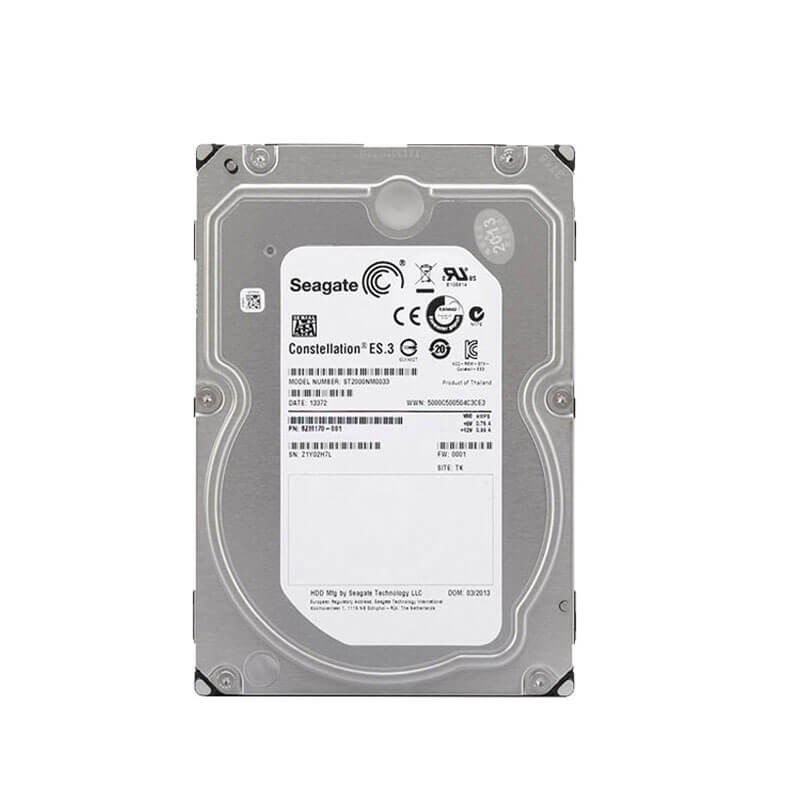 HDD Refurbished Enterprise, 2TB, 128MB Cache, ST2000NM0033