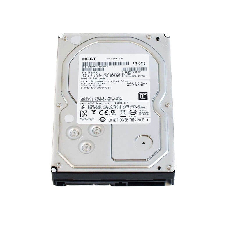 HDD Refurbished Hitachi 7K6000 4TB, 7200 RPM, 128MB Cache, SATA 3, HUS726040ALA610