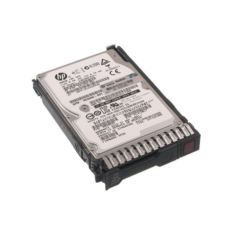 HDD Refurbished HP 10K SAS 2,5 inch, 300GB, 652564-B21