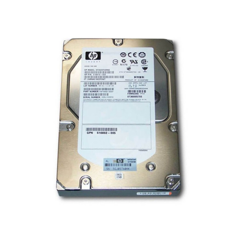 HDD Refurbished HP 600GB SAS 3.5 inch, 15K RPM, 6GB/s, 516810-003