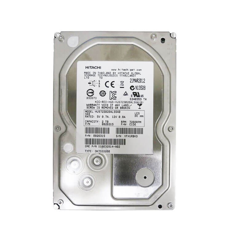 HDD Refurbished HUS723020ALS641 2TB SAS 6.0Gbps 3.5 inch, 64Mb Cache