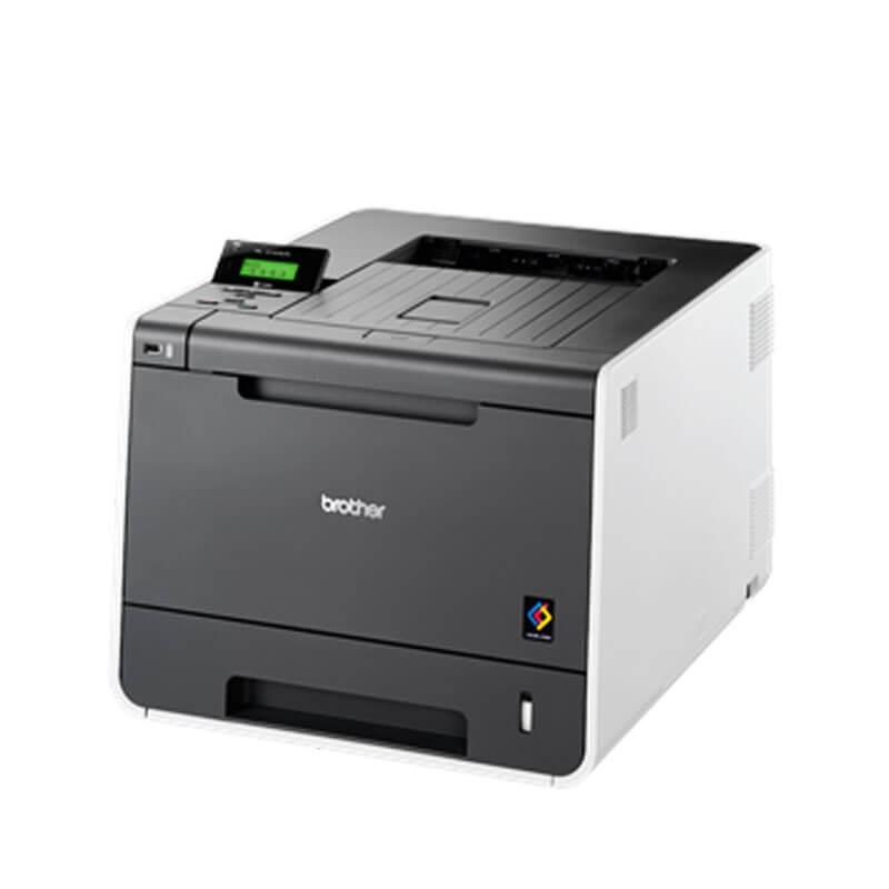 Imprimanta Refurbished Laser Color Brother HL-4140CN, Toner Full