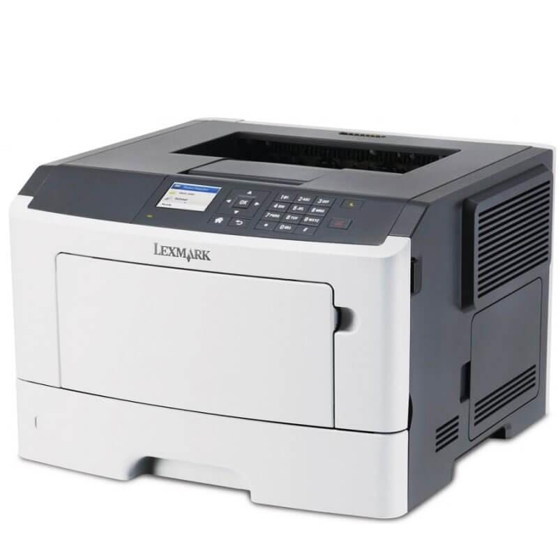 Imprimanta Refurbished Laser Monocrom Lexmark MS510dn, Toner Full