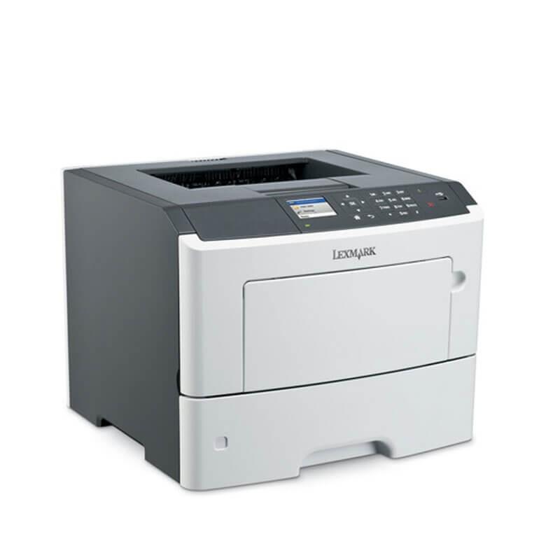 Imprimanta Refurbished Laser Monocrom Lexmark MS610dn, Toner Full