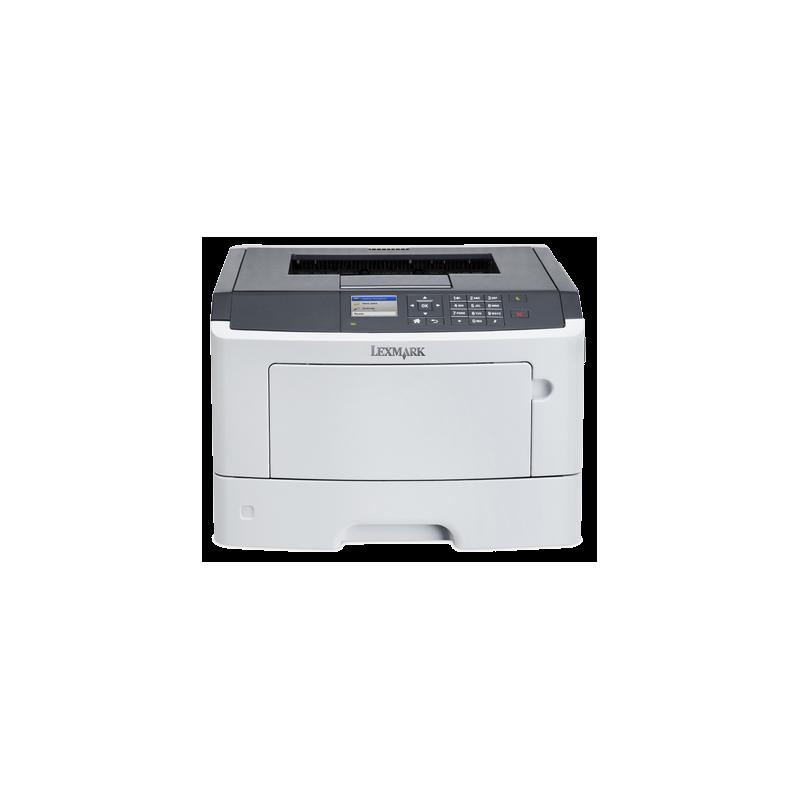 Imprimante Refurbished Laser Monocrom Lexmark MS415DN, Duplex, Retea, Toner Full