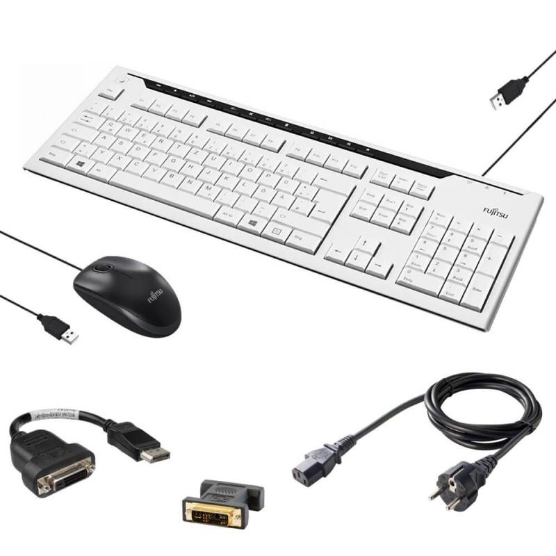 Kit NOU Fujitsu Tastatura, Mouse, Adaptoare DisplayPort DVI, Adaptoare DVI VGA, Cablu Alimentare
