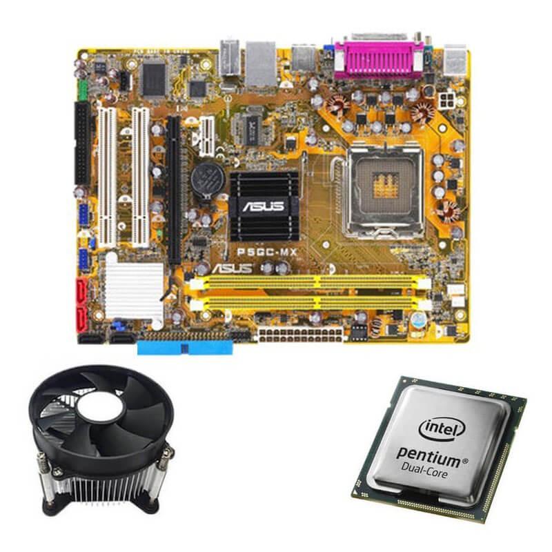 Kit Placi de baza Refurbished Asus P5GC-MX/S, Intel Dual Core E2140, Cooler