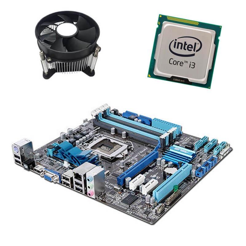 Kit Placi de baza Refurbished ASUS P7H55-M, Intel Core i3-540, Cooler
