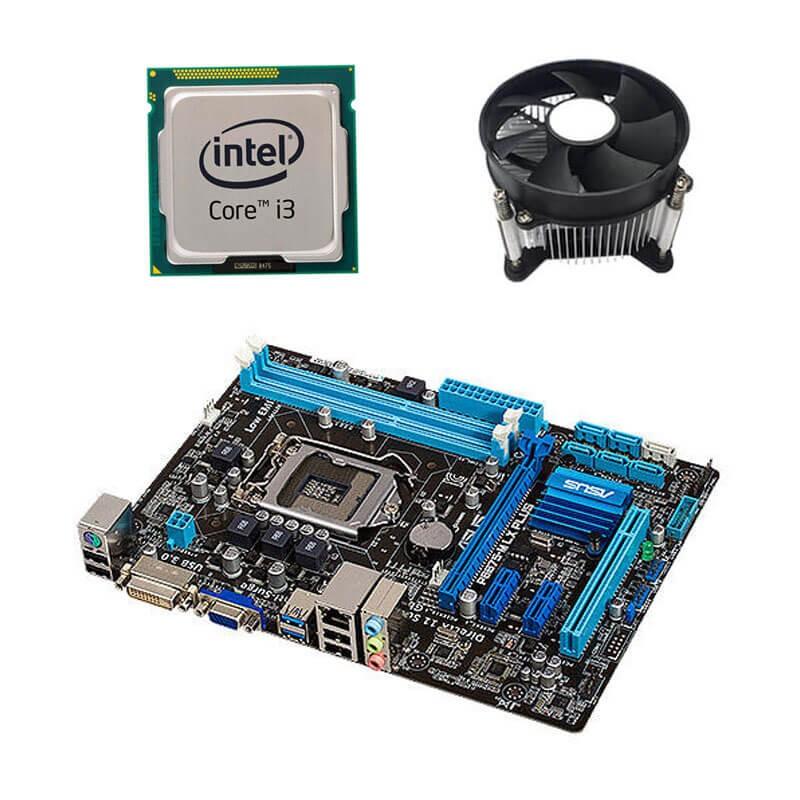 Kit Placi de baza Refurbished ASUS P8B75-M LX PLUS, Intel i3-3220, Cooler