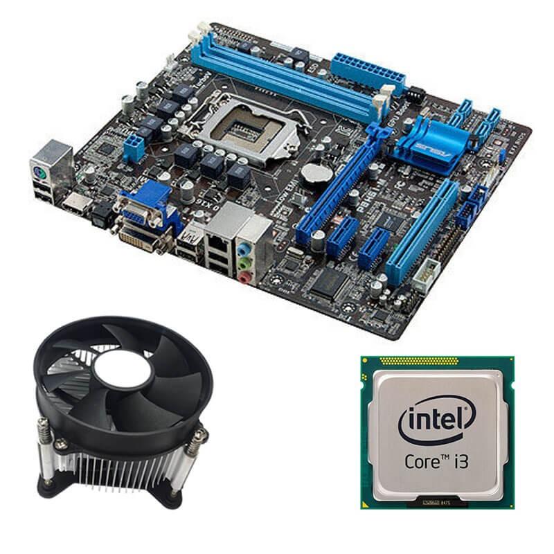 Kit Placi de baza Refurbished ASUS P8H61-M, Intel Core i3-2120, Cooler