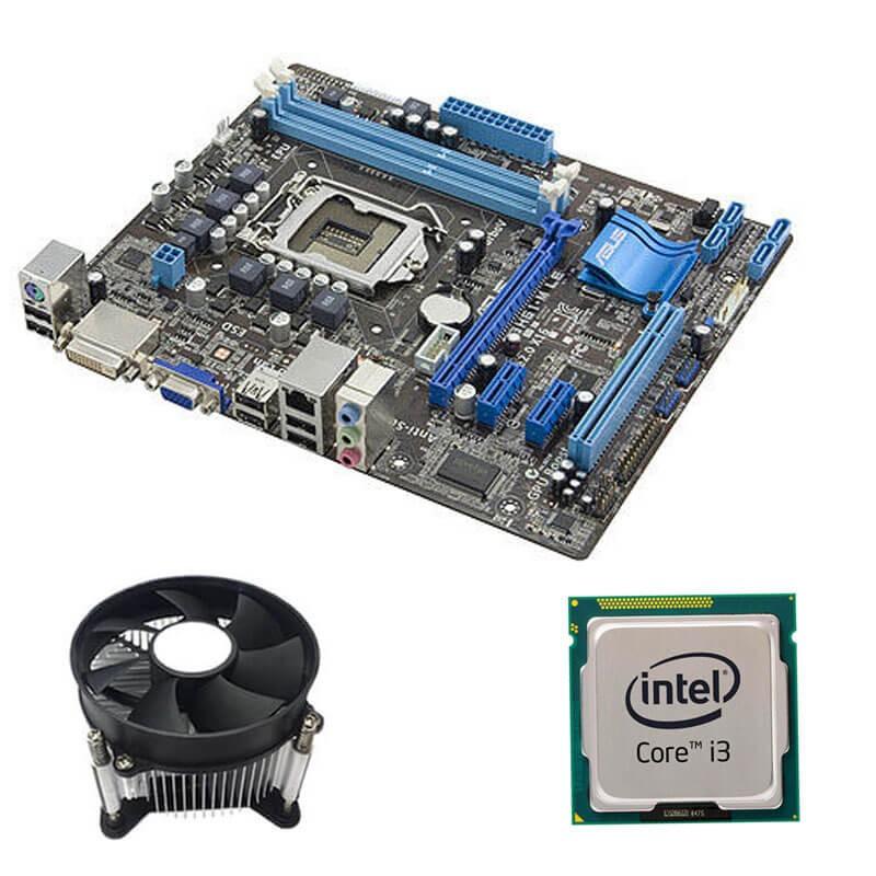 Kit Placi de baza Refurbished ASUS P8H61-M LE, Intel i3-2100, Cooler