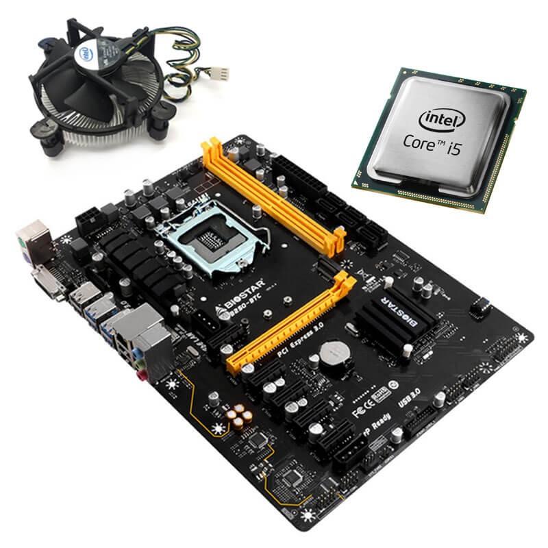 Kit Placi de baza Refurbished Biostar TB250-BTC, Intel Quad Core i5-6400T, Cooler