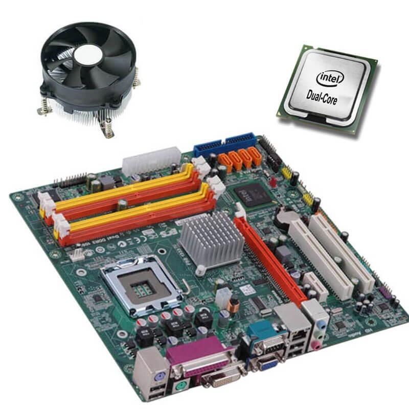 Kit Placi de baza Refurbished ECS G41T-M9, Intel Dual Core E5400, Cooler