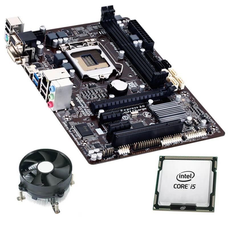 Kit Placi de baza Refurbished GIGABYTE GA-B85M-HD3, Quad Core i5-4460, Cooler