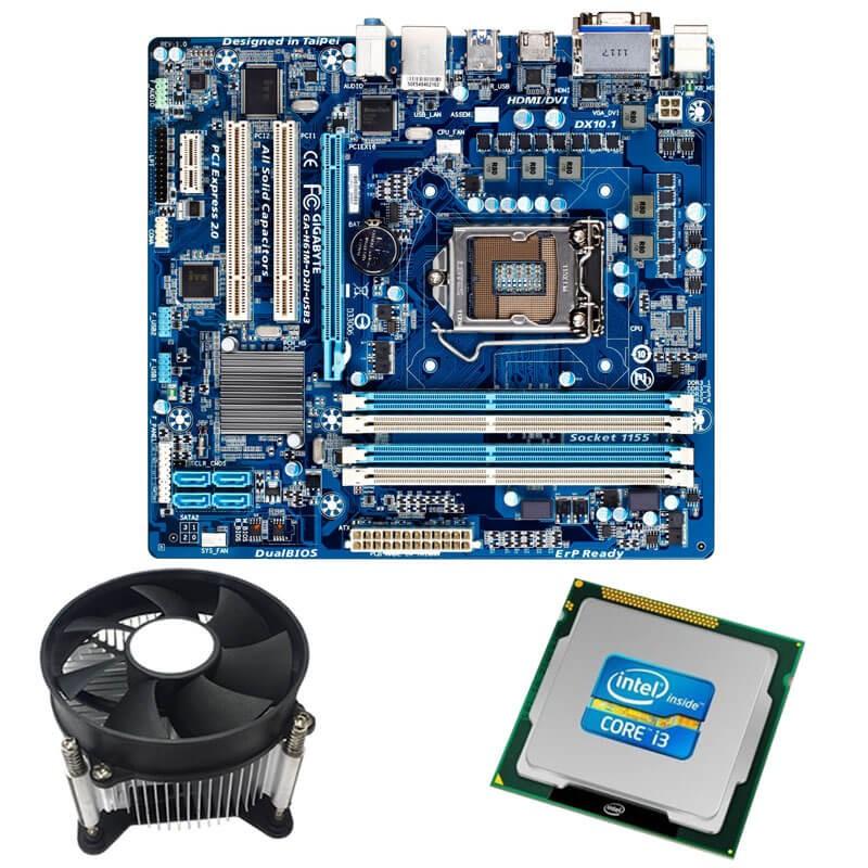 Kit Placi de baza Refurbished GIGABYTE GA-H61M-D2H-USB3, i3-2100, Cooler