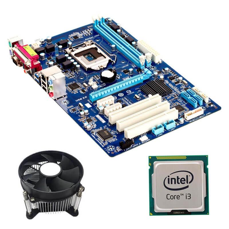 Kit Placi de baza Refurbished GIGABYTE GA-P61A-D3, Intel i3-3220, Cooler