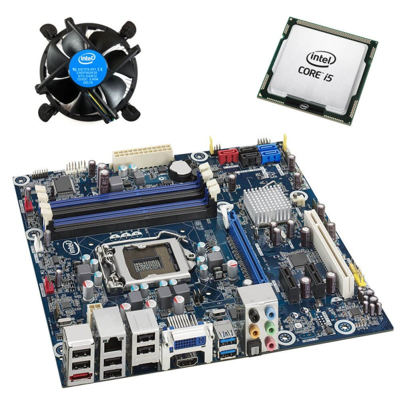 Kit Placi de baza Refurbished Intel DH67BL, Quad Core i5-2500K, Cooler