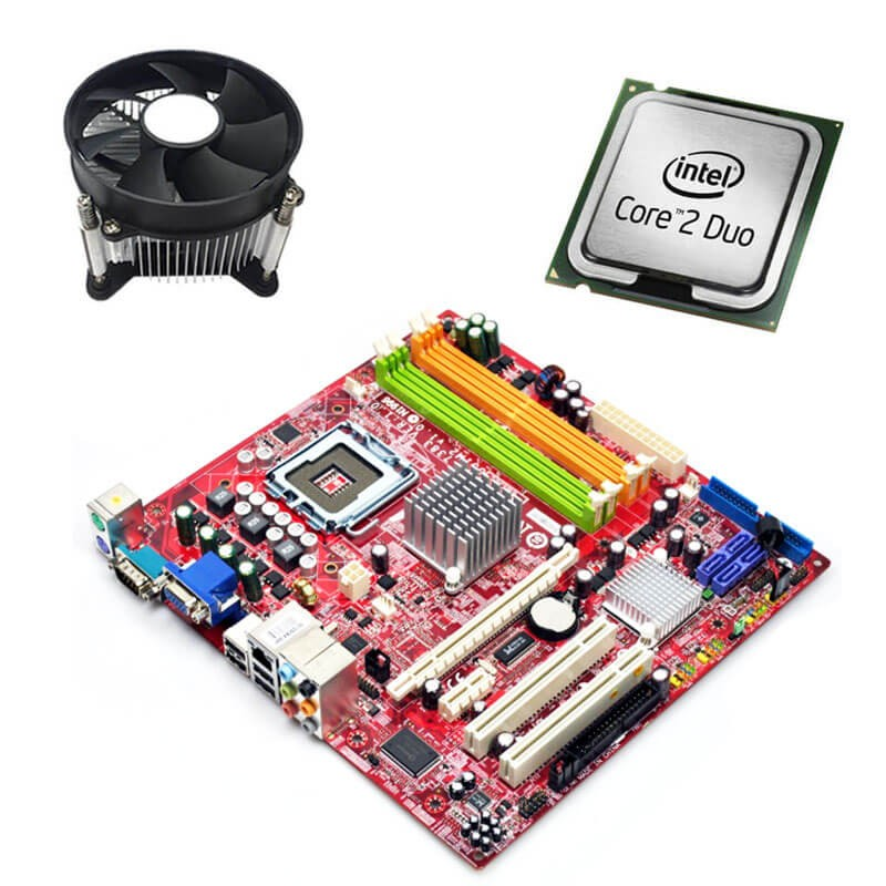 Kit Placi de baza Refurbished MSI G31M2 V2, Intel Core 2 Duo E4600, Cooler