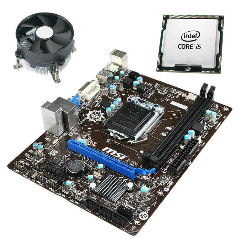 Kit Placi de baza Refurbished MSI H81M-P33, Quad Core i5-4570S, Cooler