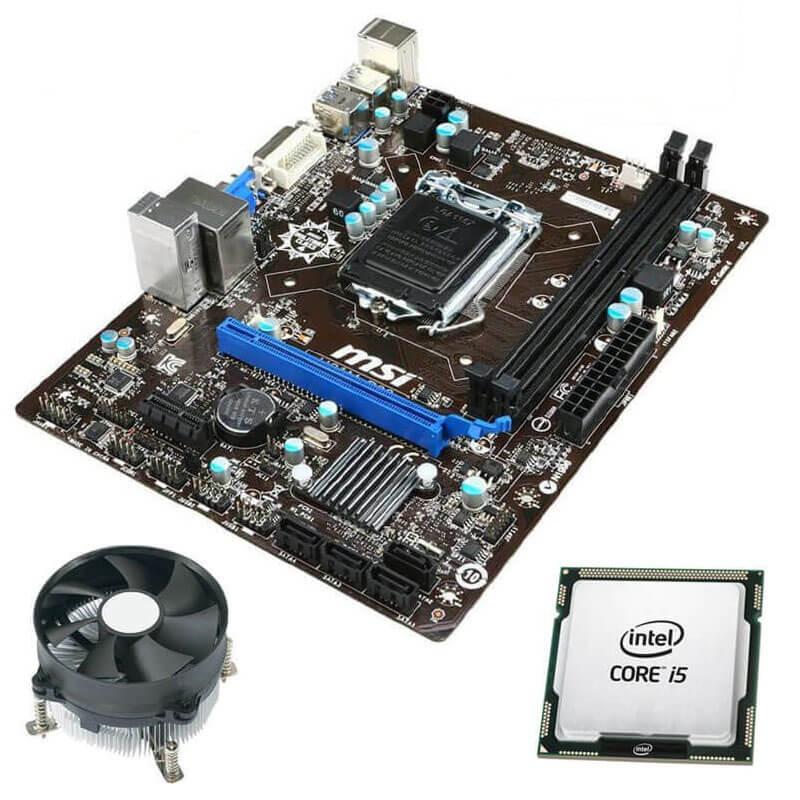 Kit Placi de baza Refurbished MSI H81M-P33, Quad Core i5-4590, Cooler