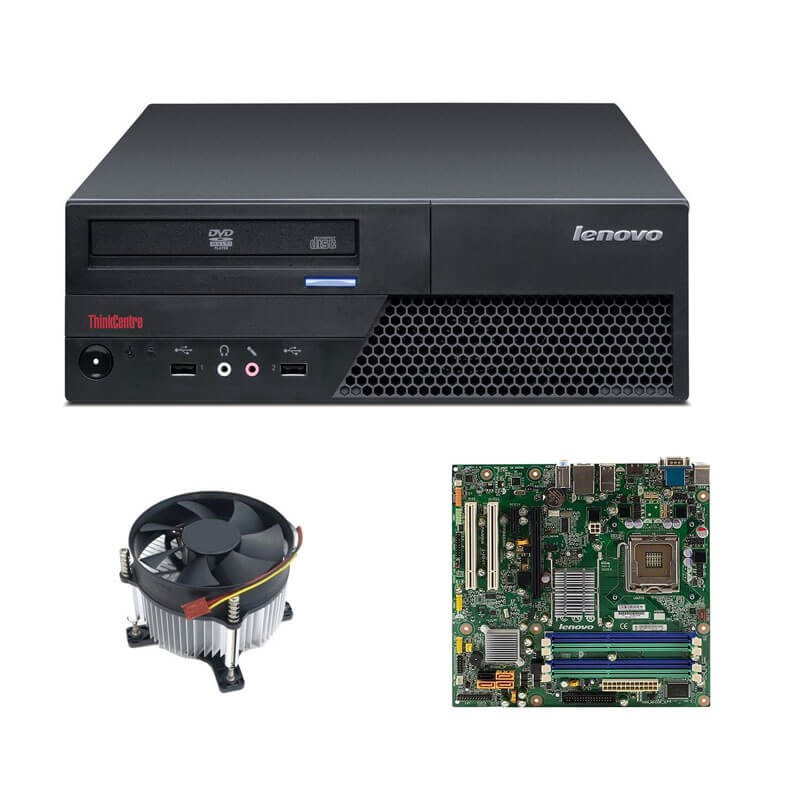 Kit Placi de baza second hand Lenovo M58p Socket LGA775 + Carcasa, Cooler