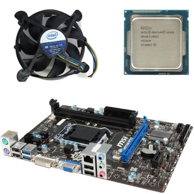 Kit Placi de baza SH MSI H81M-P33, Pentium G3420, Cooler