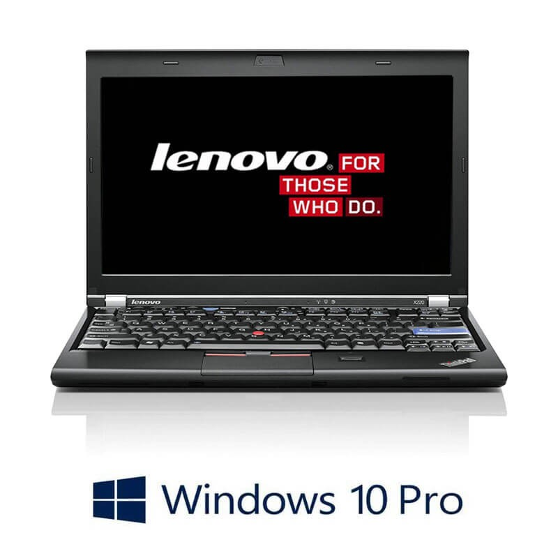 Laptop Lenovo ThinkPad X220, Intel i5-2520M, 750GB HDD, Webcam, Win 10 Pro