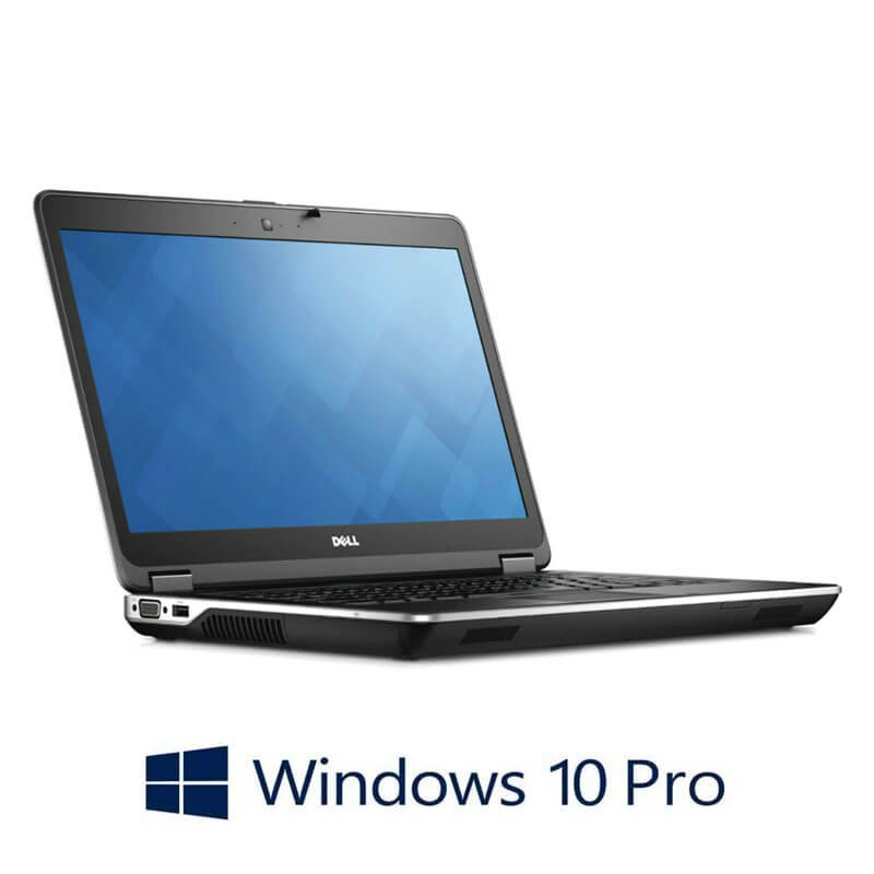 Laptop Refurbished Dell Latitude E6440, i7-4610M, 250GB SSD, Full HD, Win 10 Pro
