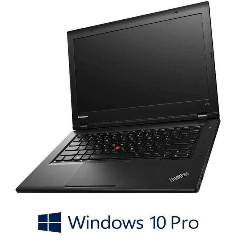 Laptop Refurbished Lenovo ThinkPad L440, Intel i3-4000M, Win 10 Pro