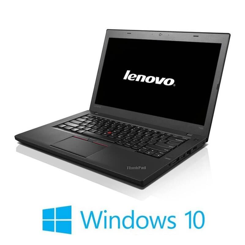 Laptop Refurbished Lenovo ThinkPad T460, i5-6200U, 8GB, Webcam, Win 10 Home