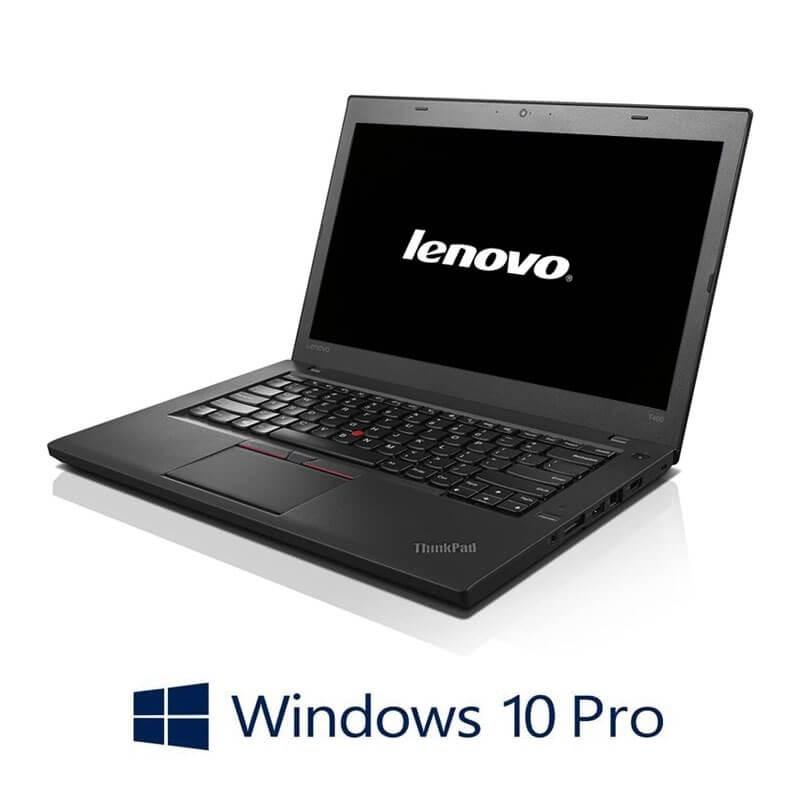 Laptop Refurbished Lenovo ThinkPad T460, i5-6200U, 8GB, Webcam, Win 10 Pro