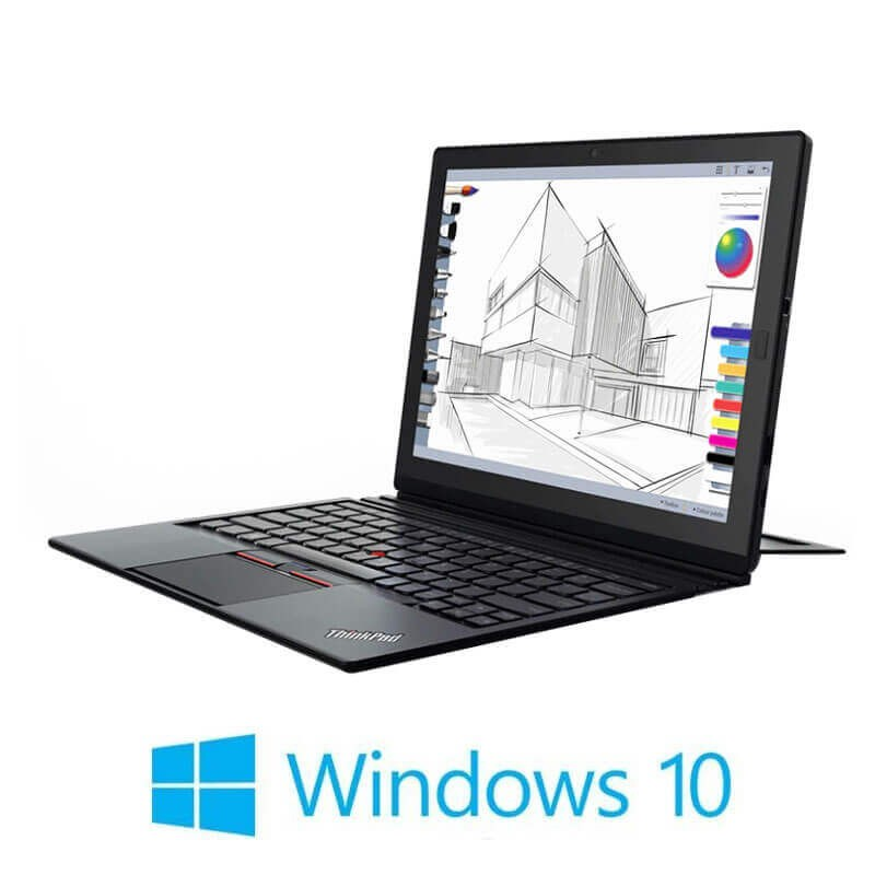 Laptopuri 2 in 1 Refurbished Lenovo ThinkPad X1 Gen 2, i5-7Y54, SSD, 2K, Webcam, Win 10 Home