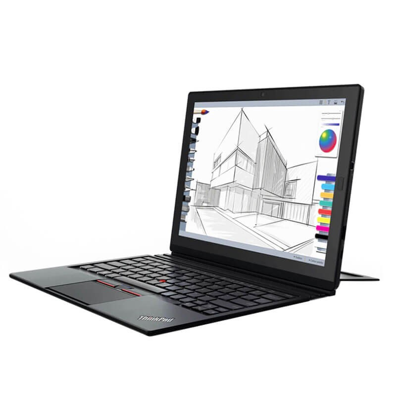Laptopuri 2 in 1 second hand Lenovo ThinkPad X1 Gen 2, Intel i5-7Y54, SSD, TouchScreen 2K, Webcam