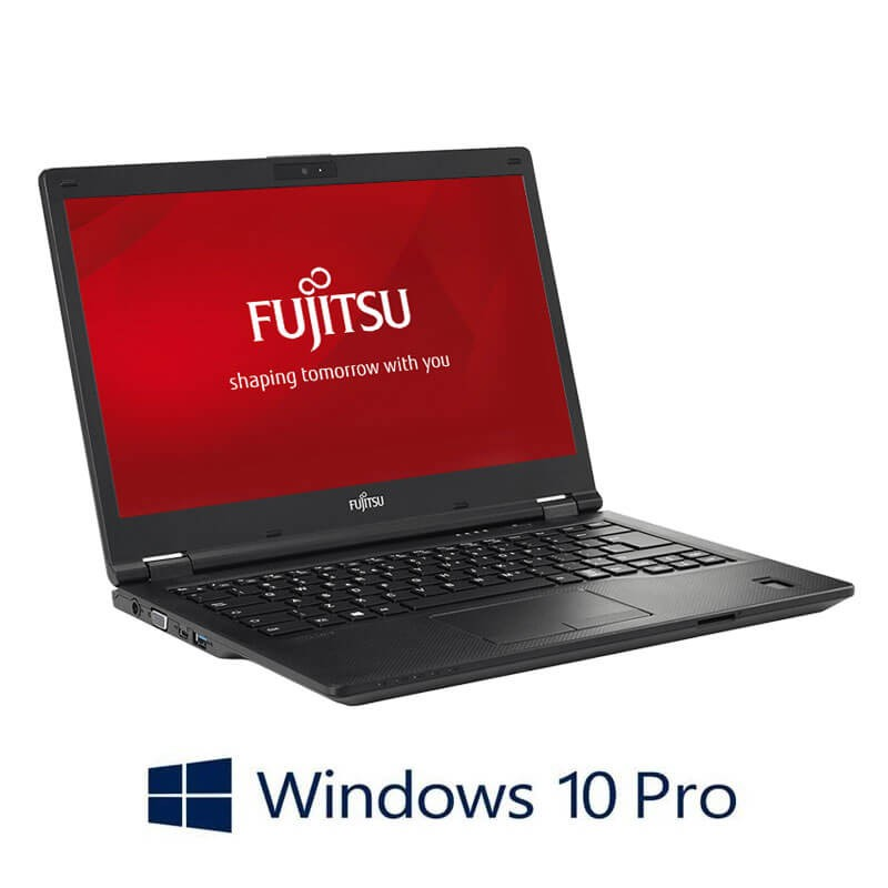 Laptopuri Refurbished Fujitsu LIFEBOOK E449, i3-8130U, SSD, FHD, Webcam, Win 10 Pro