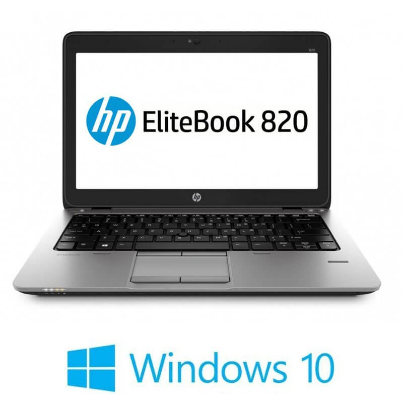 Laptopuri Refurbished HP EliteBook 820 G2, i7-5600U, 16GB, SSD M.2, Win 10 Home