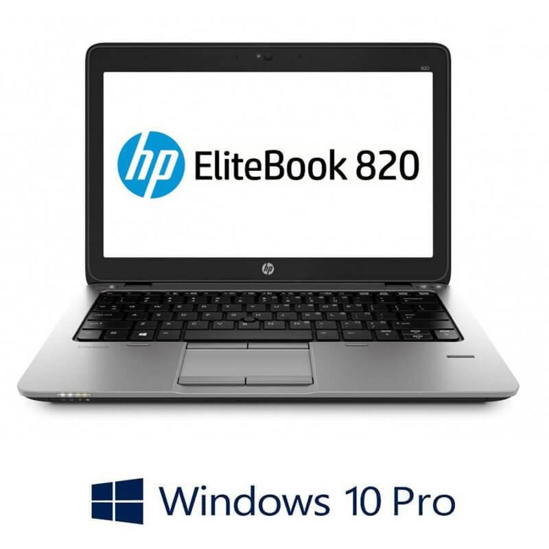 Laptopuri Refurbished HP EliteBook 820 G2, i7-5600U, 16GB, SSD M.2, Win 10 Pro