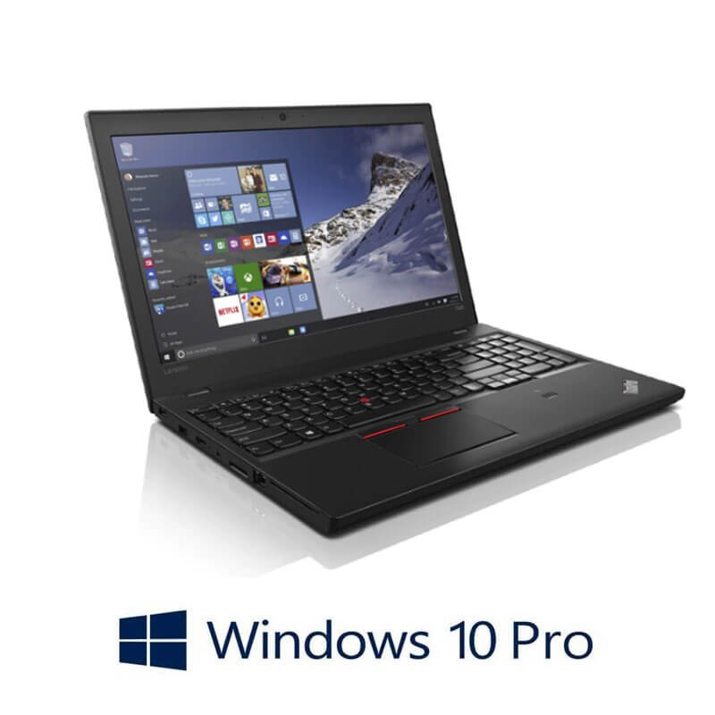 Laptopuri Refurbished Lenovo ThinkPad T560, i7-6600U, SSD, FHD, Webcam, Windows 10 Pro