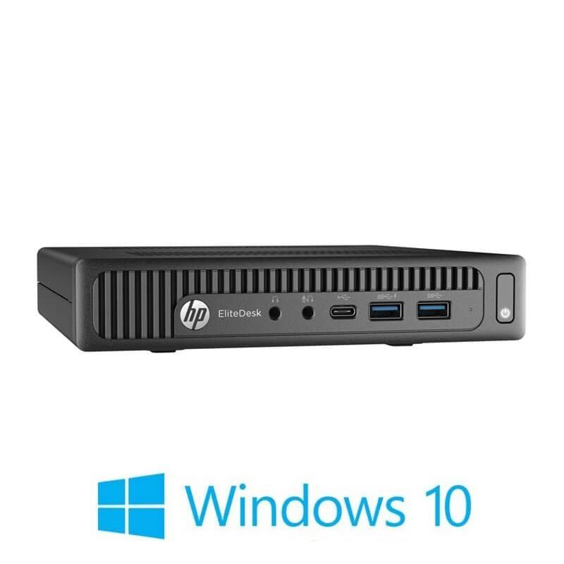 Mini Calculatoare HP EliteDesk 800 G2, Quad Core i5-6500T, 16GB DDR4, 256GB SSD, Win 10 Home