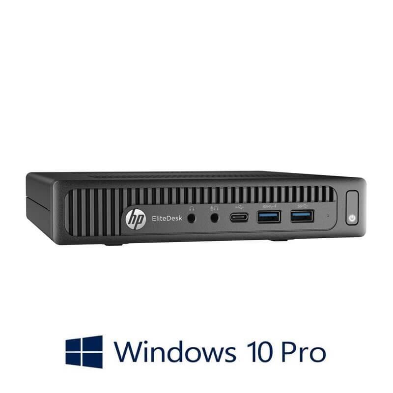 Mini Calculatoare HP EliteDesk 800 G2, Quad Core i5-6500T, 16GB DDR4, 256GB SSD, Win 10 Pro