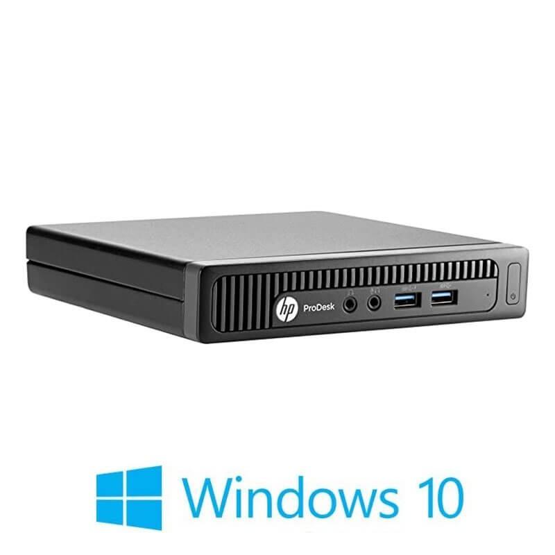 Mini Calculatoare HP ProDesk 600 G1, Intel i3-4370T, 128GB SSD, Windows 10 Home