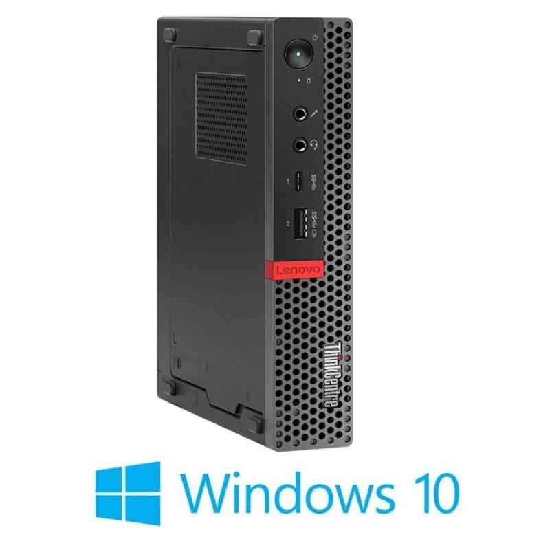 Mini Calculatoare Lenovo ThinkCentre M920q, Hexa Core i7-8700T, 256GB SSD, Windows 10 Home
