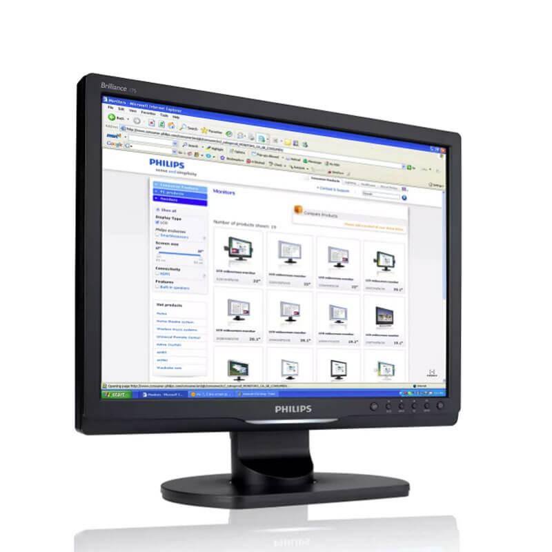 Monitor LCD SH Philips Brilliance 17S1SB, 17 inch, Grad B