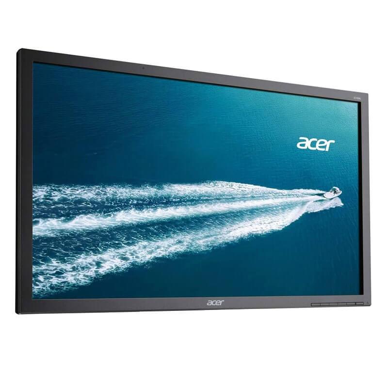 Monitor LED Refurbished Acer B246HL, 24 inch Full HD, Fara Picior
